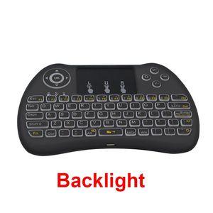 Freeshipping H9 Hintergrundbeleuchtung Tastatur 2,4 Ghz Wireless Keyboard mit Touchpad Qwerty Englisch Verson für Smart TV Box Laptop Orange Pi PC