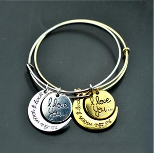 I love you to the moon and back The sun and Moon Fashion bracelet bracelet pendant