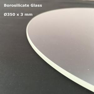 Бесплатная доставка боросиликатного стекла круглый 350мм * 3мм ТЭВО Маленький Монстр Дельта 3D принтер построить печать пластины