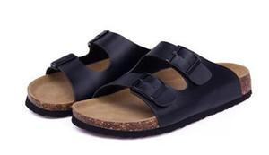 Новый 2017 лето женщина мужчины квартиры сандалии Корк тапочки унисекс повседневная обувь печати смешанные цвета флип-флоп бесплатная доставка