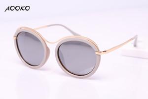 AOOKO AK7910 New Fashion occhiali da sole protezione uv Donne Round Oculos De Sol accessori abbigliamento Occhiali signora occhiali da sole per donna