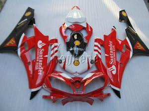 Carenagens de moldes de injeção para Yamaha YZF R6 07 08 kit de carenagem preto vermelho yzf R6 2007 2008 IY04