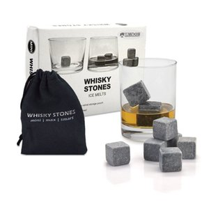 Whisky Stones, Yummy Sam Piedra de hielo reutilizable Chilling Rocks Cubos en caja de regalo con bolsa, Set de 9 para Whisky, Bourbon, Wine u Ot