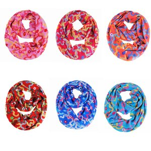 infinity scarf flowers pattern light sheer fabric made vibrant and gorgeous colors stitched hem, 6 colors option, price cheap, good quality