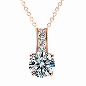 Collier zircon de couleur en or argent pour femme fille bijoux artificiels bijoux longue chaîne collier accessoires de vêtements Zircon pendentif cadeau