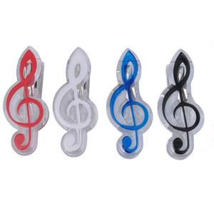 Kunststoff Notenständer Blatt Buch Seite Clip-Ordner Hohe Note Clef Shaped Set von 4