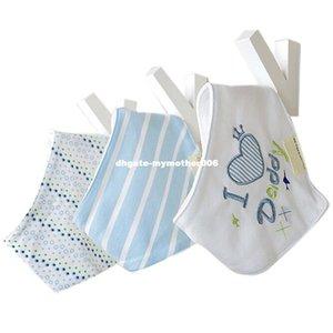 3 Adet / grup Bebek Önlükler Bebek Bandana Baberos Bebes Çocuklar Eşarp Üçgen Çift Katmanlar Havlu Karikatür Patters Dribble Önlükler T0305