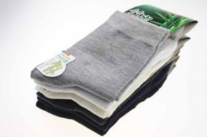 Großhandels-Qualitätsmänner Bambusfasersocken der reinen Farbe der Männer Elite beiläufige Socken tragen nicht stinkende antibakteriell, absorbieren Schweiß LQ-33