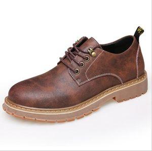 Hommes Automne Bottes D'hiver Casual En Cuir Véritable Hommes Bottines Bottes Noir Mâle Oxfords Bottes Romaines Hommes Chaussures