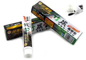 Alta Qualidade 100g de Creme Dental Carvão Vegetal Branqueamento Pasta De Dente Preta De Borracha Do Carvão Vegetal De Bambu Produto de Higiene Oral DHL LIVRE