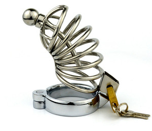 Steel cock Stainless Chastity SM arrival Fetish Device Chastity Bondage sex Cage+Catheter New toys Male Cage JJD0327 Ttpag