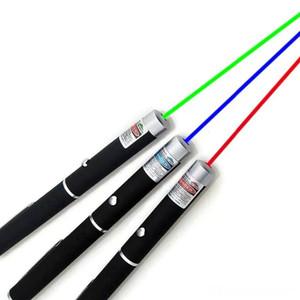 5mW 532nm Green Red Blue light Laser Pen Beam Laser Pointer Pen For SOS Mounting Night Hunting teaching Xmas gift Opp Package JBD-P1