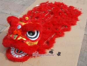 Living Lion Dance para niños de 9 a 13 años de edad Traje de lana pura Lanza del sur del León Teatro al aire libre Días de Navidad Traje popular chino