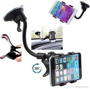 Universal 360 ° en el soporte del soporte del tablero del tablero del parabrisas del coche Soporte para iPhone Samsung GPS PDA Teléfono móvil Negro (DB-024)
