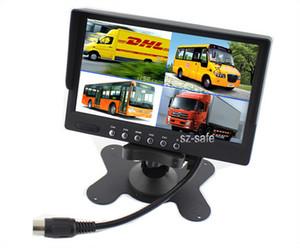 7 بوصة TFT LCD سيارة شاحنة PZ711 4 رباعية مراقب 4 قنوات إدخال الفيديو تلقائيا عرض عند عكس DC12V 24V 1440 * 234