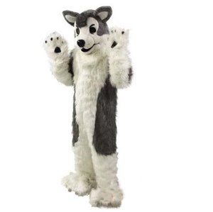 Gray Wolf Husky Dog Mascot Costume Animal Costume Free Shipping