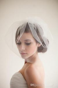 Venda Por Atacado Barato Novo Curto Mini Véu De Noiva Veil Véu De Noiva Simples Hot Headwear Tulle Cabelo Acessórios Headpiece