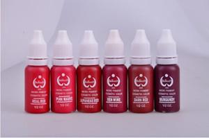 Atacado-alta qualidade 6pcs pigmento de sobrancelha de tinta de maquiagem permanente para tinta micorblading