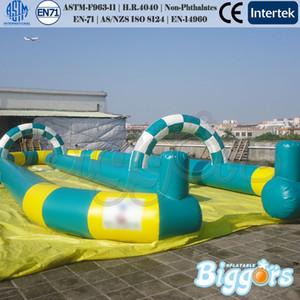 EN71 Standard-Außen Sport Spiele Aufblasbare Race Track Inflatable Air Track Karting Rennstrecke für Auto