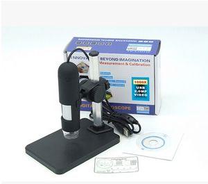 Atacado-1000x USB Microscópio Digital + titular (novo), 8-LED Endoscópio com Microscópio usb Software de Medição