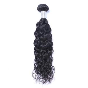 Brasileño del pelo humano de la Virgen de la onda natural sin procesar la onda de agua del pelo de Remy teje tramas dobles 100g / 1bundle Bundle / lot se pueden teñir blanqueado