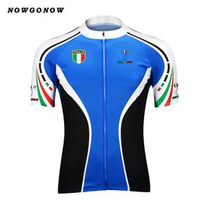 Tour 2017 cyclisme maillot hommes bleu italie pro équipe vêtements vêtements de vélo NOWGONOW tops course sur route montagne Triathlon été Maillot Ciclismo
