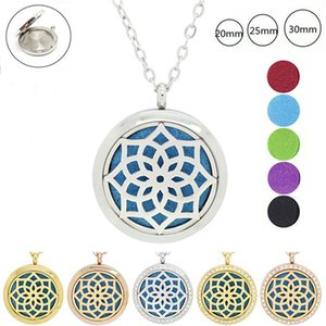 avec chaîne en cadeau! médaillon en gros argent pendentif rond en argent Aromatherapy médaillon collier en acier inoxydable huile diffuseur médaillon
