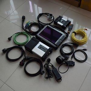أداة الماسح الضوئي MB نجمة مدمجة C5 BMW ICOM التالي 2in1 مع الكمبيوتر المحمول IX104 اللوحي I7 4G سوبر SSD سيارة وشاحنة تشخيص جاهزة للعمل