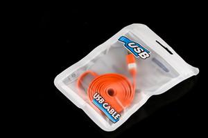 Weiße Plastikreißverschluss-Kleinpaket-Tasche Poly-pp. USB-Aufladeeinheits-Kabel für iPhone 5 5S 6 7 8 Plus X Samsungs-Galaxie-Anmerkung 8 S8 S7 Verpackentaschen