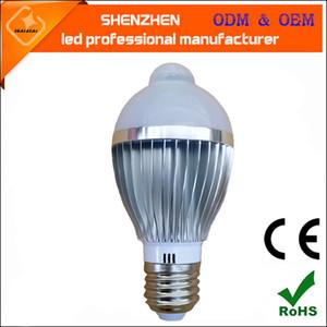 высокое качество 5 Вт 7 Вт E27 LED PIR инфракрасный датчик тела свет человека индукционная Лампа Лампа AC90-260V Обнаружение движения авто смарт-освещение