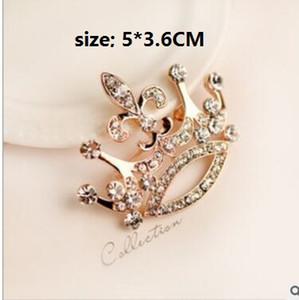 Große Krone Diamant Broschen Pins Paare Brosche Corsage Zubehör Weihnachtsfeier Geburtstagsgeschenk echte Bilder one size