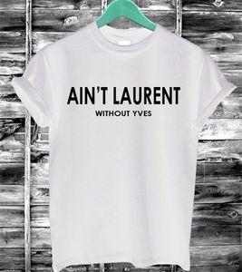 All'ingrosso- 2016 donne di estate maglietta non è lettere stampa cotone casual divertente t-shirt nero bianco manica corta sottile maglietta sexy F4203-66