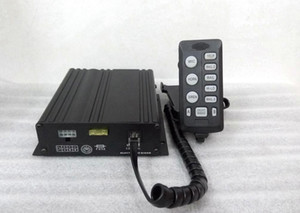 High power 100W police car siren warning alarm amplifiers with remote,7 warning tone,with microphone,2 light switches(without speaker)