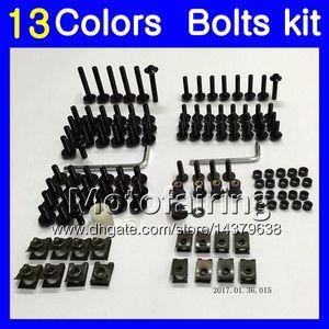 Kit de tornillo completo para tornillos de carenado Para YAMAHA YZFR6 98 99 00 01 02 YZF-R6 YZF R6 1998 1999 2000 2001 2002 Kit de pernos de tuerca de tornillos de tuerca 13 colores