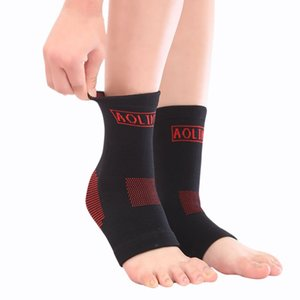 Wholesale- AOLIKES Running Basketball Nylon Super Elastic Fitness Ankle Breathable Ankle Support Protect Mountaineering Brace