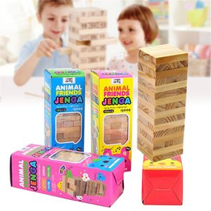 Novo 48 PCS Jenga Clássico Balance Board Game Kit Building Block Presente Crianças Brinquedos bloco de madeira Montessori Kits Interativo
