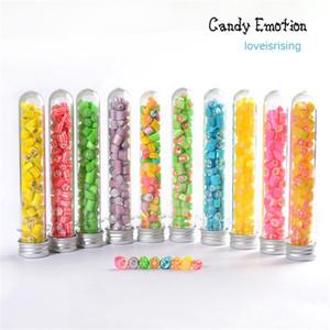 Yeni Gelenler-25 adet 40 ml için Yüksek Kalite Plastik Test Tüpü Skittles Şeker Kutusu Bebek Duş Dekorasyon El Yapımı Şeker Kutusu