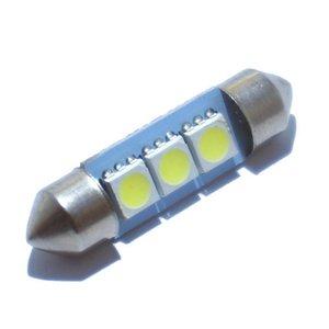 2 W DC12V Branco 36 39 41 MM Festoon 3SMD 5050 Placa de Licença Dome Interior Levou Lâmpada Do Carro Lâmpada de LED Estacionamento 20 PCS JTCL024-ly