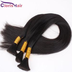 Brésil humaine en vrac Tressage Hair No Trame Cheap Droit Extension de cheveux en vrac 3 Bundles exquis Traiter Weave en vrac meilleurs produits