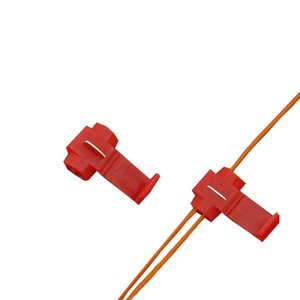 50PCS Quick Splice Terminals Crimp Non Destructive Without Breaking Line AWG 22-18 Red Connection Clip Wire Maintenance Tools