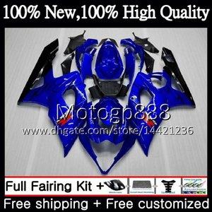 Karosserie für SUZUKI GSX-R1000 GSXR-1000 K5 GSXR 1000 Schwarze Flammen 05 06 30PG9 GSX R1000 05 06 Karosserie GSXR1000 2005 2006 Verkleidung Karosserie