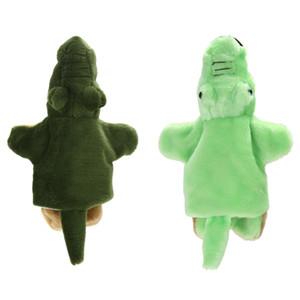 Animal Crocodile Hand Puppet Baby Early Educational Cartoon Crocodile Pattern Dolls Kids Bedtime Stories Soft Plush Toys