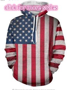 Nova Moda Casais Homens Mulheres Unisex Bandeira Americana Águia 3D Impressão Hoodies Camisola Jaquetas Jaquetas Pulôver Top S-5XL TT20