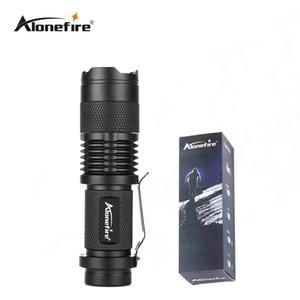 AloneFire SK68 мини фонарик 7 Вт Факел держатель светодиодный фонарик фары лампа передняя Факел водонепроницаемый велосипед свет велосипед