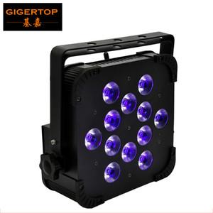 FREESHIPPING 12x18W RGBWA UV 6IN1 اللاسلكية سليم الإسكان 25 درجة عدسة ديزي سلسلة اتصال 3 PIN XLR المقبس AC100V-220V