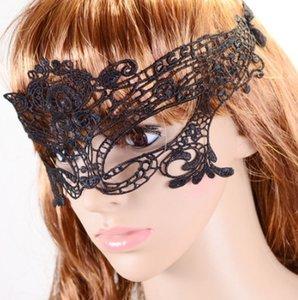 Festa de Halloween Sexy Masquerade Máscaras Máscaras de renda branca e preta Máscara Veneziana meia máscara para o Natal Cosplay Festa Night Club Eye