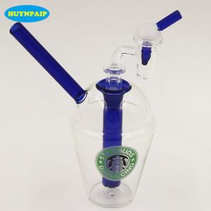 Scaricare la consegna!!! Rigs di vetro Bong di vetro + Free 3 millimetri di spessore femminile 100% al quarzo Banger Nail 14mm Maschio Joint Starbucks Cup Tubo di acqua di vetro