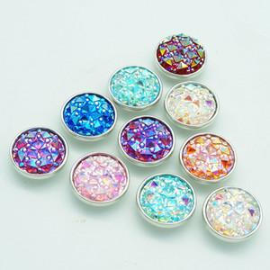 30 pcs Nova Moda 18 MM Shinning quebrou Resina ginger snap botões fit DIY Gengibre snap pulseira de jóias Por Atacado