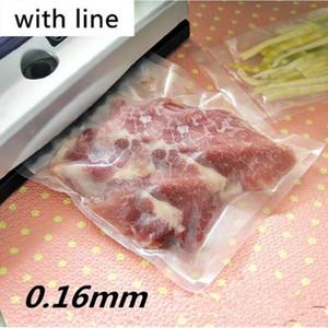 25x30 cm Com Linha Embossing Vacuum Limpar Alimentos Cozidos Saver Packaging Bag Snacks De Carne Armazenar Frutas Secas De Armazenamento De Vedação de Plástico pacote