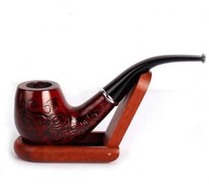 Novo Durable De Madeira Enchase Cachimbo Tabaco Cigarros Charuto Pipes Presente